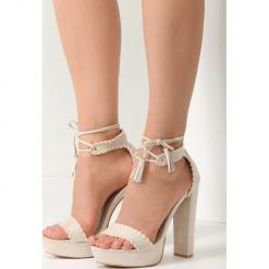 Beżowe Sandały Belong To Catwalk. Brązowe sandały damskie marki vices, na wysokim obcasie. Za 89,99 zł.