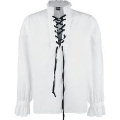 Banned Alternative Rüschenhemd mit Schnürung Koszula biały. Czarne koszule męskie na spinki marki Leonardo Carbone, s, z materiału, z długim rękawem. Za 164,90 zł.