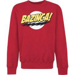 Bluzy męskie: The Big Bang Theory Bazinga Bluza czerwony