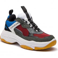 Sneakersy CALVIN KLEIN JEANS - Maya R0803 Rosso/Blue/Grey/Whit. Niebieskie sneakersy damskie Calvin Klein Jeans, z jeansu. Za 719,00 zł.