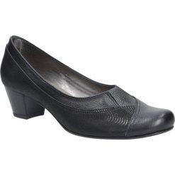 Czarne czółenka skórzane na niskim obcasie Casu 287. Czarne buty ślubne damskie Casu, na niskim obcasie. Za 169,99 zł.