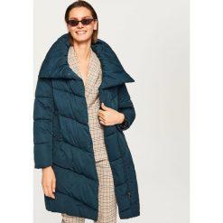 Płaszcze damskie pastelowe: Pikowany płaszcz - Khaki