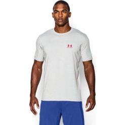 Under Armour Koszulka męska Sportstyle Left Chest Logo T-Shirt True Gray Heather r. XL (1257616025). Białe koszulki sportowe męskie marki Adidas, l, z jersey, do piłki nożnej. Za 74,44 zł.