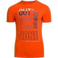 T-shirt męski TSM617 - pomarańcz - Outhorn. Brązowe t-shirty męskie Outhorn, na lato, m, z bawełny. Za 39,99 zł.