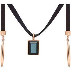 Naszyjniki damskie: Naszyjnik w kolorze czarno-różowozłotym z zawieszką – dł. 132,5 cm