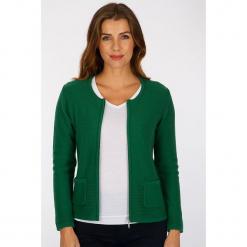 """Kardigan """"Banou"""" w kolorze zielonym. Zielone kardigany damskie marki Scottage, z dzianiny. W wyprzedaży za 68,95 zł."""