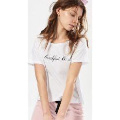 Bielizna nocna: Dwuczęściowa piżama z napisem - Biały