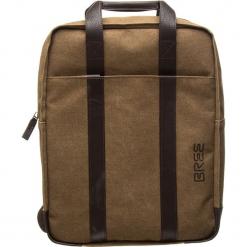 """Plecak """"Punch Casual 716"""" w kolorze brązowym - 31 x 40 x 11 cm. Brązowe plecaki męskie BREE, w paski, z bawełny. W wyprzedaży za 363,95 zł."""