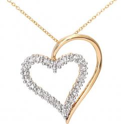 Złoty naszyjnik z diamentowym elementem ozdobnym - dł. 45 cm. Żółte naszyjniki damskie marki METROPOLITAN, pozłacane. W wyprzedaży za 689,95 zł.