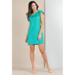 Sukienki asymetryczne: Sukienka z asymetrycznym karczkiem