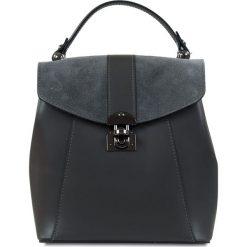 """Plecaki damskie: Skórzany plecak """"Naima"""" w kolorze antracytowym – 21 x 22 x 12 cm"""