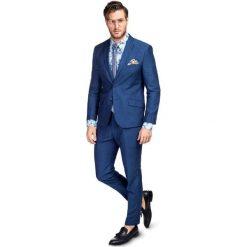 Garnitur LEONARDO SLIM GXNS900093. Niebieskie garnitury Giacomo Conti, z bawełny. Za 599,00 zł.