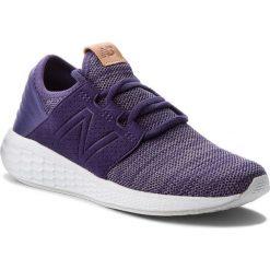 Buty NEW BALANCE - WCRUZKW2 Fioletowy. Fioletowe buty do biegania damskie marki New Balance, z materiału. W wyprzedaży za 269,00 zł.