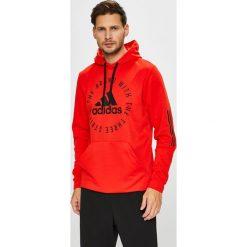 Adidas Performance - Bluza. Czerwone bluzy męskie rozpinane adidas Performance, l, z nadrukiem, z dzianiny, z kapturem. Za 269,90 zł.