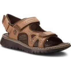 Sandały męskie skórzane: Sandały LASOCKI FOR MEN - MI18-893 Brązowy
