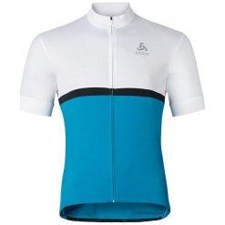 Odlo Koszulka rowerowa Shirt s/s full zip Fujin C/O biało-niebieska r. L (411262/10467). Koszulki sportowe męskie Odlo, l. Za 141,75 zł.