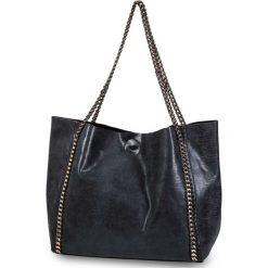 Shopper bag damskie: Torba shopper z ozdobnym łańcuszkiem bonprix szary