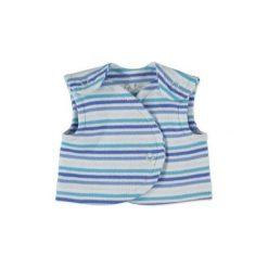 Fixoni  Boys Kamizelka w paski kolor niebieski. Niebieskie t-shirty chłopięce Fixoni, w paski, z bawełny. Za 39,00 zł.