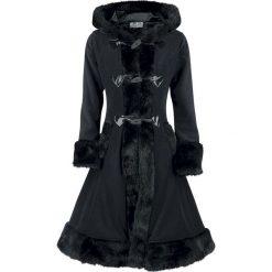 Poizen Industries Minx Coat Płaszcz damski czarny. Szare płaszcze damskie z futerkiem marki bonprix. Za 489,90 zł.