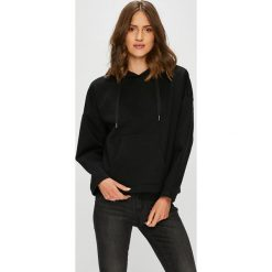 Only - Bluza. Czarne bluzy rozpinane damskie ONLY, l, z bawełny, z kapturem. W wyprzedaży za 99,90 zł.