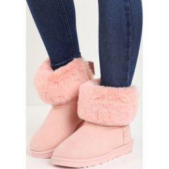Różowe Śniegowce Midwinter. Czerwone buty zimowe damskie Born2be, z koronki. Za 69,99 zł.