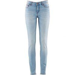 Wygodne dżinsy ze stretchem SKINNY bonprix jasnoniebieski. Niebieskie jeansy damskie bonprix, z jeansu. Za 69,99 zł.