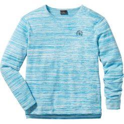 Swetry klasyczne męskie: Sweter Regular Fit bonprix turkusowo-biel wełny melanż