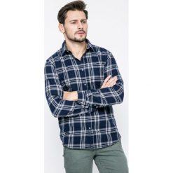 Jack & Jones - Koszula Larson. Szare koszule męskie na spinki Jack & Jones, l, w kratkę, z bawełny, z klasycznym kołnierzykiem, z długim rękawem. W wyprzedaży za 49,90 zł.