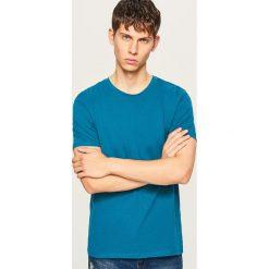 Gładki T-shirt Basic - Turkusowy. Niebieskie t-shirty męskie Reserved, l. Za 19,99 zł.