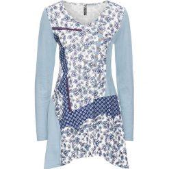 Tunika shirtowa bonprix szaro-niebieski wzorzysty. Fioletowe tuniki damskie z długim rękawem bonprix. Za 79,99 zł.