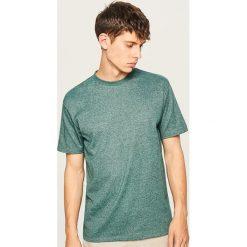 T-shirt z melanżowej dzianiny - Turkusowy. Niebieskie t-shirty męskie marki Reserved, l, z dzianiny. Za 49,99 zł.