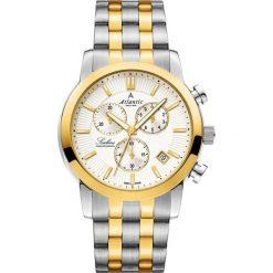 Zegarek Atlantic Męski  Sealine 62455.43.21G Chronograf srebrno-złoty. Szare zegarki męskie Atlantic, złote. Za 1422,99 zł.