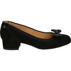 Czółenka - C082 897 NERO. Czarne buty ślubne damskie Venezia, ze skóry. Za 299,00 zł.