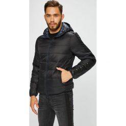 Armani Exchange - Kurtka. Czarne kurtki męskie pikowane marki Armani Exchange, l, z materiału, z kapturem. Za 1099,00 zł.