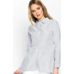 Szara Koszula Ups And Downs. Szare koszule damskie marki Silvian Heach, l, z dzianiny, z włoskim kołnierzykiem. Za 49,99 zł.