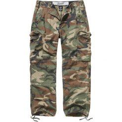 Bojówki męskie: Brandit Hudson Ripstop Spodnie kamuflaż Woodland