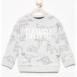 Bluza z nadrukiem dinozaurów - Beżowy. Brązowe bluzy chłopięce rozpinane marki Reserved, z nadrukiem. W wyprzedaży za 29,99 zł.