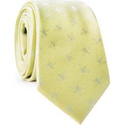 Krawat   KWYR001764. Żółte krawaty męskie Giacomo Conti, z mikrofibry. Za 69,00 zł.
