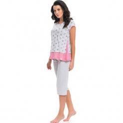 Piżama w kolorze miętowo-szarym - t-shirt, spodnie. Czerwone piżamy damskie Doctor Nap, s. W wyprzedaży za 64,95 zł.