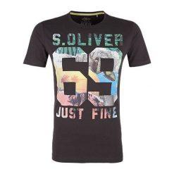 T-shirty męskie: S.Oliver T-Shirt Męski L Czarny