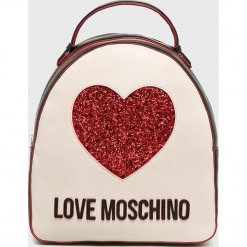 Love Moschino - Plecak. Szare plecaki damskie Love Moschino, z materiału. Za 799,90 zł.