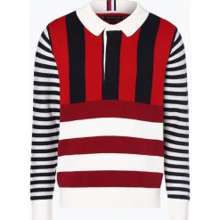 Tommy Hilfiger - Sweter męski, czarny. Czarne swetry klasyczne męskie TOMMY HILFIGER, m, w paski. Za 499,95 zł.
