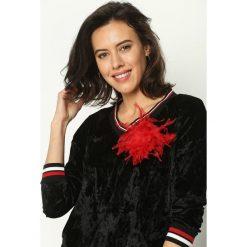 Czarna Bluza Glowing. Czarne bluzy z kieszeniami damskie Born2be, uniwersalny, w kolorowe wzory, z materiału. Za 59,99 zł.