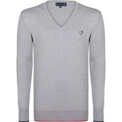 """Swetry klasyczne męskie: Sweter """"Bye"""" w kolorze szarym"""