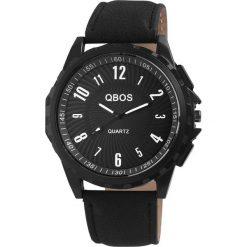 QBOS Whirl Zegarek na rękę czarny. Czarne, analogowe zegarki męskie QBOS, metalowe. Za 62,90 zł.