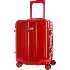 Walizka w kolorze czerwonym - 35 l. Czerwone walizki marki Platinium, z materiału. W wyprzedaży za 349,95 zł.