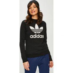 Adidas Originals - Bluza. Czarne bluzy z nadrukiem damskie adidas Originals, z bawełny, bez kaptura. Za 249,90 zł.