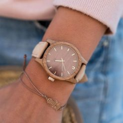Zegarek Neat Zegarek damski wiąz drewniany brązowo-złoty 38mm. Brązowe zegarki damskie Neat, złote. Za 355,69 zł.