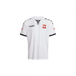 Koszulka Do Piłki Ręcznej F500 Polska Hummel. Białe t-shirty damskie marki Hummel, s, z materiału. W wyprzedaży za 79,99 zł.