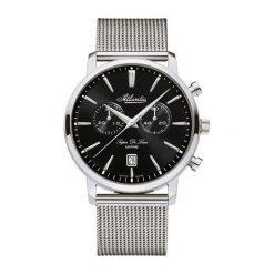 Zegarek Atlantic Męski Super De Luxe 64456.41.61 Chronograf srebrny. Szare zegarki męskie Atlantic, srebrne. Za 2148,23 zł.